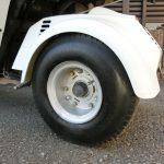 ホンダジャイロキャノピー リアタイヤに付いた塗料を落とし、P8コートで美観仕上げする